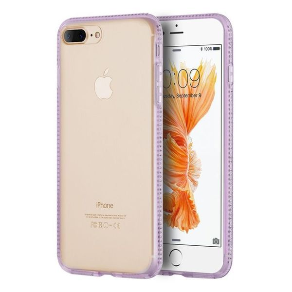 Insten TPU Rubber Candy Skin Case Cover with Diamond For Apple iPhone 7 Plus