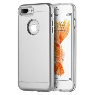 Insten Silver/ Clear Hard Snap-on Dual Layer Hybrid Case Cover For Apple iPhone 7 Plus