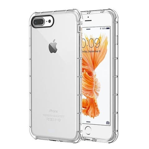 Insten Clear TPU Rubber Candy Skin Case Cover for Apple iPhone 7 Plus/8 Plus
