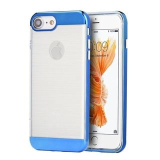 Insten Clear/ Blue Hard Snap-on Dual Layer Hybrid Case Cover For Apple iPhone 7