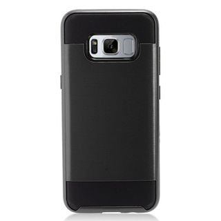 Insten Chrome Hard Plastic Dual Layer Hybrid Brushed Case Cover For Samsung Galaxy S8