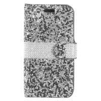 Insten Leatherette Rhinestone Bling Case Cover with Wallet Flap Pouch For Samsung Galaxy S8