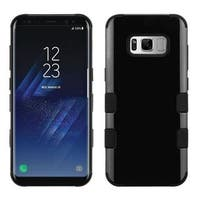 Insten Black Tuff Hard PC/ Silicone Dual Layer Hybrid Glossy Case Cover For Samsung Galaxy S8