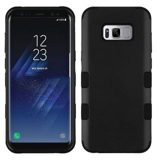 Insten Hard PC/ Silicone Dual Layer Hybrid Rubberized Matte Case Cover For Samsung Galaxy S8 Plus S8+ (Option: Grey)