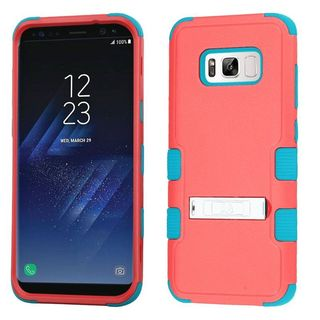 Insten Hard PC/ Silicone Dual Layer Hybrid Rubberized Matte Case Cover with Stand For Samsung Galaxy S8 Plus S8+