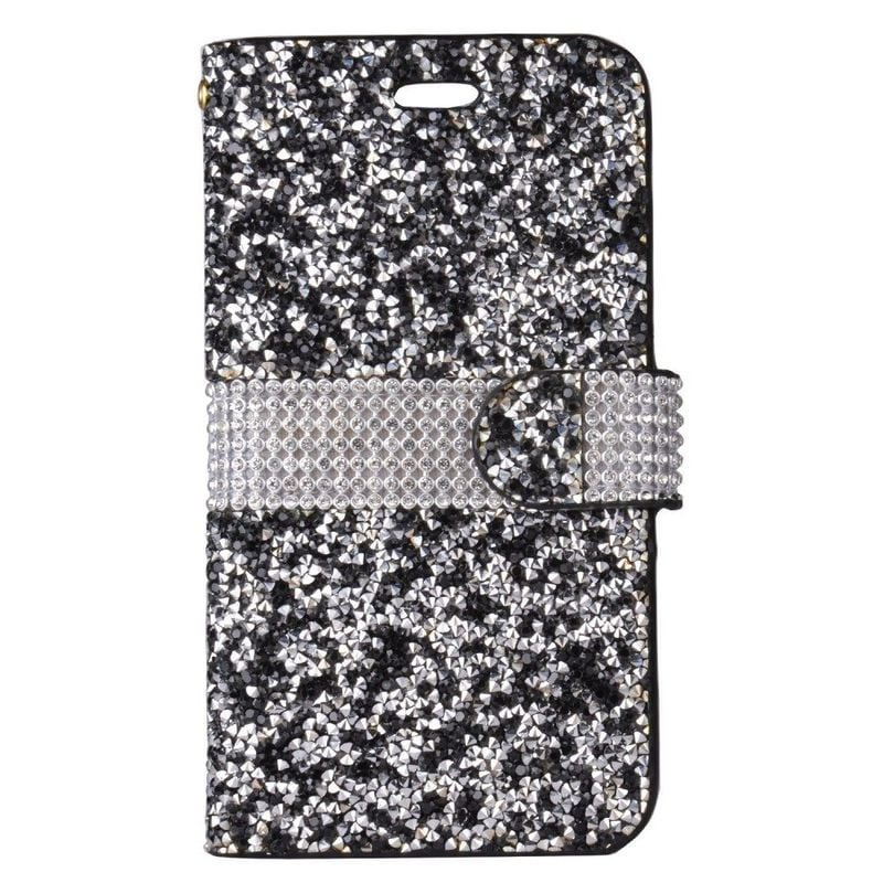 Insten Leatherette Rhinestone Bling Case Cover with Walle...