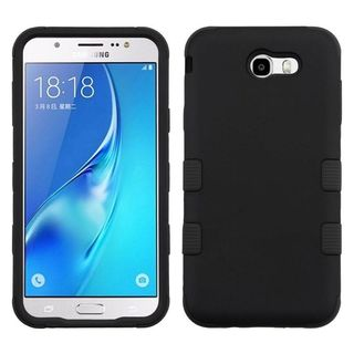 Insten Hard PC/ Silicone Dual Layer Hybrid Rubberized Matte Case Cover For Samsung Galaxy J7 (2017)/ J7 Perx/ J7 Sky Pro/ J7 V