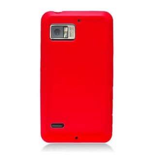 Insten Red Silicone Skin Gel Rubber Case Cover For Motorola Droid Bionic XT875 Targa