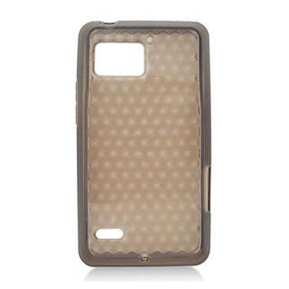 Insten Clear TPU Rubber Candy Skin Case Cover For Motorola Droid Bionic XT875 Targa