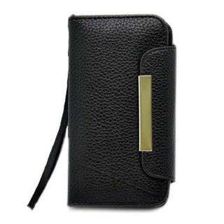 Insten Leatherette Case Cover Lanyard with Wallet Flap Pouch For Apple iPhone 5/ 5S