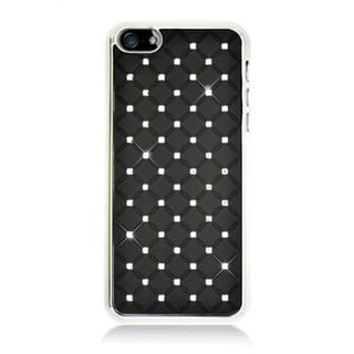 Insten Hard Snap-on Chrome Rubberized Matte Case Cover with Diamond For Apple iPhone 5/ 5S