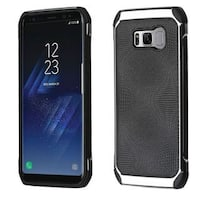 Insten Black/ Silver Hard Snap-on Dual Layer Hybrid Case Cover For Samsung Galaxy S8