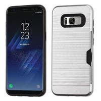Insten Hard Snap-on Dual Layer Hybrid Brushed Case Cover with Card Slot For Samsung Galaxy S8 Plus S8+