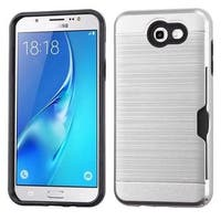Insten Hard Snap-on Dual Layer Hybrid Brushed Case Cover with Card Slot For Samsung Galaxy J7 (2017)/ J7 Perx/ J7 Sky Pro/ J7 V
