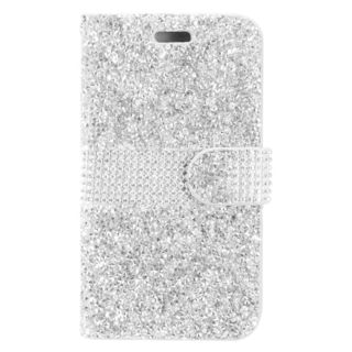 Insten Leatherette Diamond Bling Case Cover with Wallet Flap Pouch For Samsung Galaxy Amp Prime 2/ J3 (2017)/ J3 Emerge