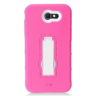 Insten Soft Silicone/ PC Dual Layer Hybrid Rubber Case Cover with Stand For Samsung Galaxy J7 (2017)/ Sky Pro