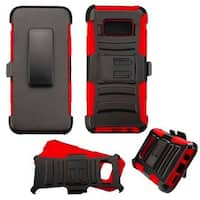 Insten Hard PC/ Silicone Dual Layer Hybrid Case Cover with Holster For Samsung Galaxy S8