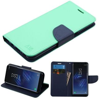 Insten Leatherette Case Cover with Stand/ Wallet Flap Pouch For Samsung Galaxy S8