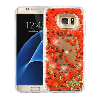 Insten Hard Snap-on Glitter Case Cover For Samsung Galaxy S7 Edge