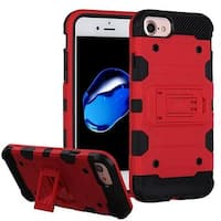 Insten Hard Snap-on Dual Layer Hybrid Case Cover with Stand For Apple iPhone 6/ 6s/ 7