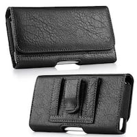Insten Black Leatherette Case Cover with Belt Clip/ Wallet Flap Pouch For Samsung Galaxy Note
