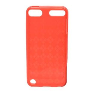 Insten Red Clear Checker TPU Rubber Candy Skin Case Cover For Apple iPod Touch 5th Gen