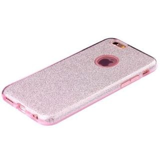 Insten Pink Hard Snap-on Dual Layer Hybrid Glitter Case Cover For Apple iPhone 6 Plus/ 6s Plus