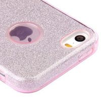 Insten Pink Hard Snap-on Dual Layer Hybrid Glitter Case Cover For Apple iPhone 5/ 5S/ SE