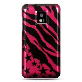 Insten Hot Pink/ Black Zebra Hard Snap-on Case Cover For LG Optimus 2X