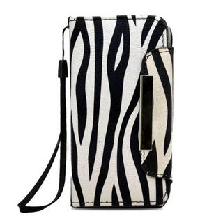 Insten Black/ White Zebra Leatherette Case Cover Lanyard with Wallet Flap Pouch For Apple iPhone 5/ 5S