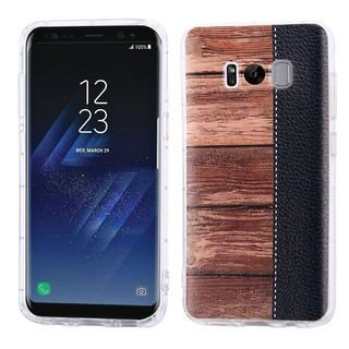 Insten Brown/ Black Wood Grain Hard Snap-on Case Cover For Samsung Galaxy S8