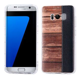 Insten Brown/ Black Wood Grain Hard Snap-on Case Cover For Samsung Galaxy S8 Plus S8+