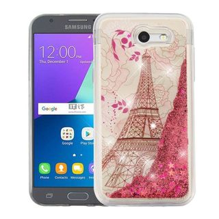 Insten Rose Gold Eiffel Tower Hard Snap-on Case Cover For Samsung Galaxy Amp Prime 2/ Express Prime 2/ J3 (2017)/ J3 Emerge