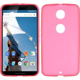 Insten Hot Pink TPU Rubber Candy Skin Case Cover For Motorola Google Nexus 6