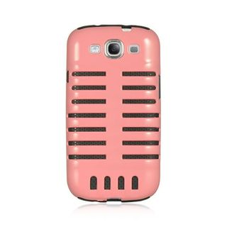 Insten Pink/ Black Skeleton Hard PC/ Silicone Dual Layer Hybrid Case Cover For Samsung Galaxy S3 GT-i9300