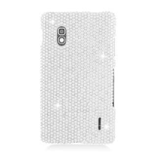 Insten Silver Hard Snap-on Diamond Bling Case Cover For LG Optimus G E970