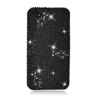 Insten Black Hard Snap-on Rhinestone Bling Case Cover For Apple iPhone 4/ 4S