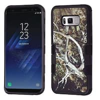 Insten Black Vines Tuff Hard PC/ Silicone Dual Layer Hybrid Rubberized Matte Case Cover For Samsung Galaxy S8 Plus S8+