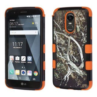 Insten Black/ Orange Vines Tuff Hard PC/ Silicone Dual Layer Hybrid Case Cover For LG Stylo 3 LS777/ K10 Pro/ Stylus 3
