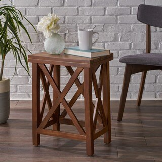 Amali Acacia Accent Table by Christopher Knight Home