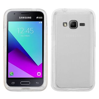 Insten Clear TPU Rubber Candy Skin Glossy Case Cover For Samsung Galaxy J1 Mini Prime