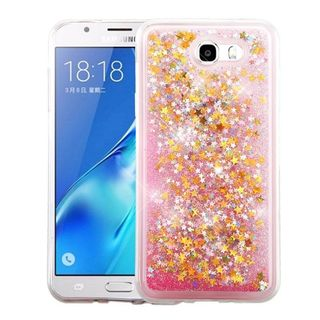 Insten Pink Stars Hard Snap-on Glitter Case Cover For Samsung Galaxy J7 (2017)/ Sky Pro