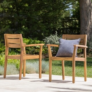 Stamford Acacia Wood Dining Chair (Set of 2) by Christopher Knight Home