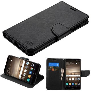 Insten Black Leatherette Case Cover with Stand/ Wallet Flap Pouch For Huawei Mate 9