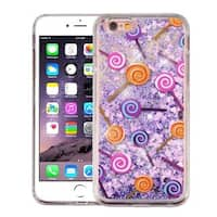 Insten Purple Lollipop Hard Snap-on Glitter Case Cover For Apple iPhone 6 Plus/ 6s Plus