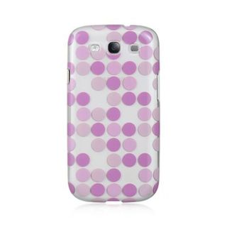 Insten Purple Dots Hard Snap-on Rubberized Matte Case Cover For Samsung Galaxy S3 GT-i9300