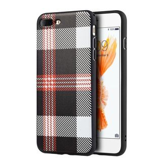 Insten Black/ White Checker TPU Rubber Candy Skin Case Cover For Apple iPhone 7 Plus