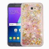 Insten Pink Stars Quicksand Hard Snap-on Glitter Case Cover For Samsung Galaxy Express Prime 2/ J3 (2017)