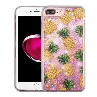 Insten Yellow Pineapple Quicksand Hard Snap-on Glitter Case Cover For Apple iPhone 7 Plus
