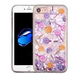 Insten Purple Lollipop Quicksand Hard Snap-on Glitter Case Cover For Apple iPhone 7